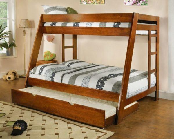 Двухъярусная кровать с дополнительным местом на krowatki.ru