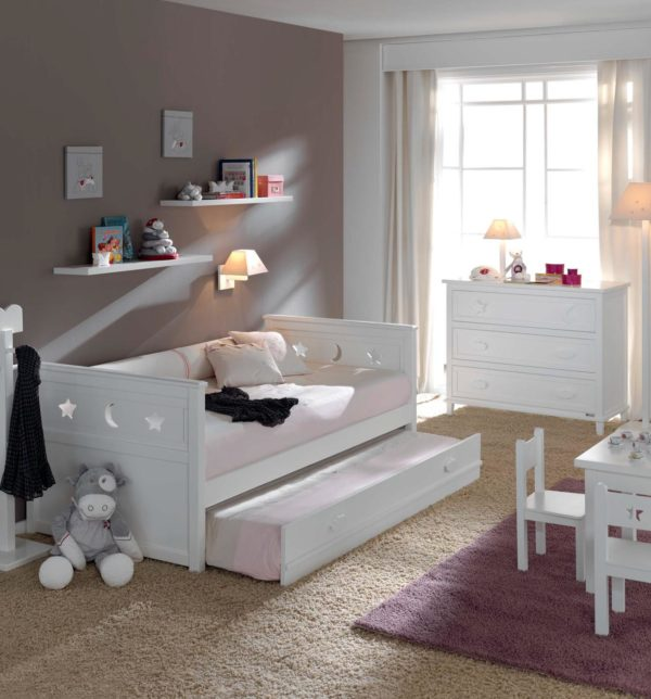 Детская кровать белая на www.krowatki.ru
