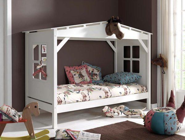 Кровать домик из дерева купить в ассортименте krowatki.ru!