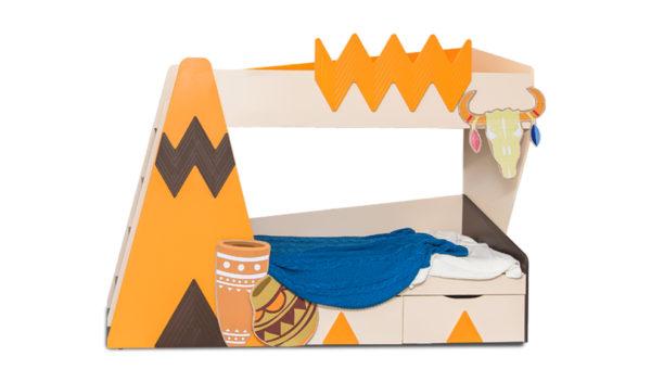 """Купить двухъярусную кровать """"Апачи"""" на www.krowatki.ru"""