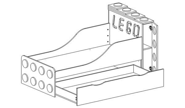 Купить кровать детскую Lego с подсветкой в интернет-магазине www.krowatki.ruКупить кровать детскую Lego с подсветкой в интернет-магазине www.krowatki.ru