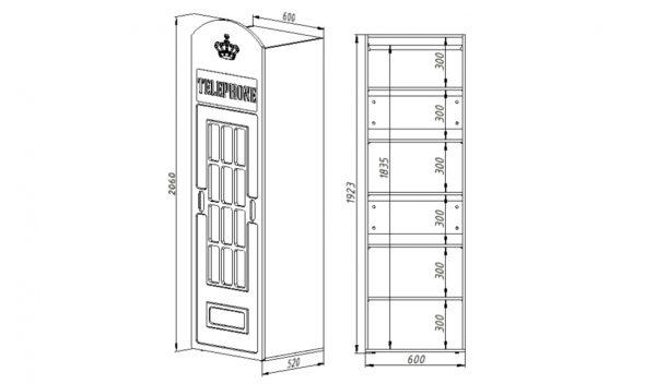 Шкаф английская телефонная будка