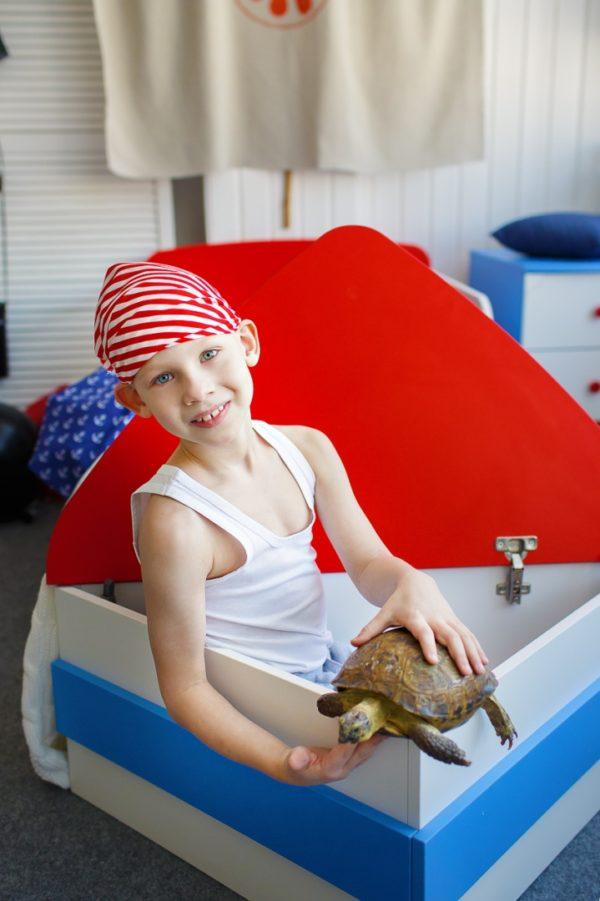 Детская кровать в виде корабля - krowatki.ru
