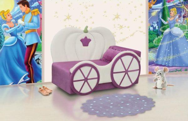 Купить Диван-кровать Тыква для девочки, доставка по РФ www.krowatki.ru