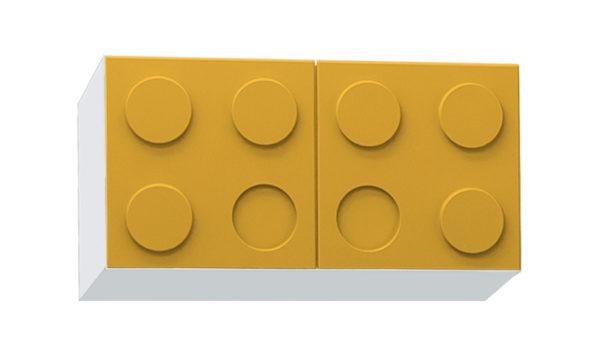 Навесные полки в детскую - мебель Лего!