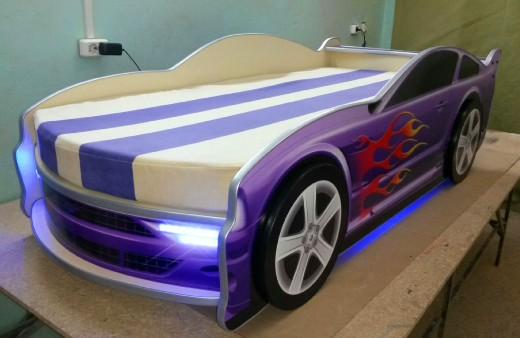 кровать машина для двоих детей