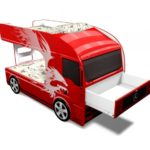 Купить детскую двухъярусную кровать-машину Мерседес со шкафом