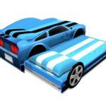 Кровать-машина для двух детей! Мустанг 2 с выдвижным спальным местом, www.krowatki.ru