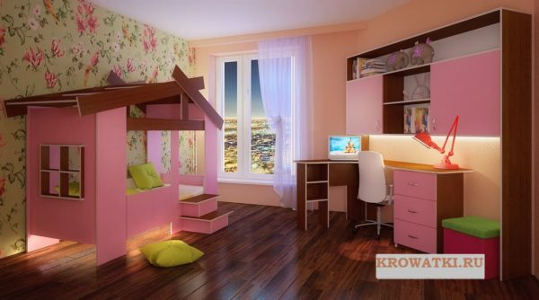 Кровать домик от года
