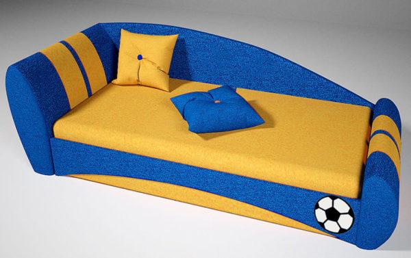 Мягкая детская кровать Футбол!
