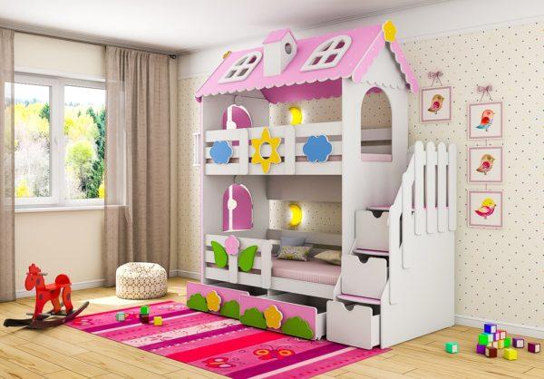 Двухъярусная кровать Коттедж в интернет-магазин детских кроваток www.krowatki.ru