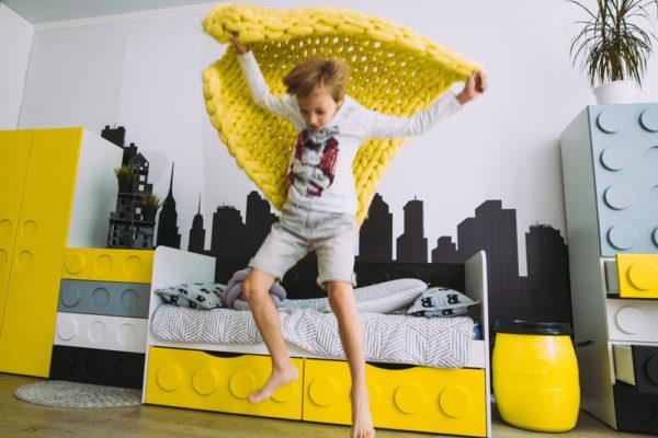 Детский двустворчатый шкаф - серия детской мебели Лего!