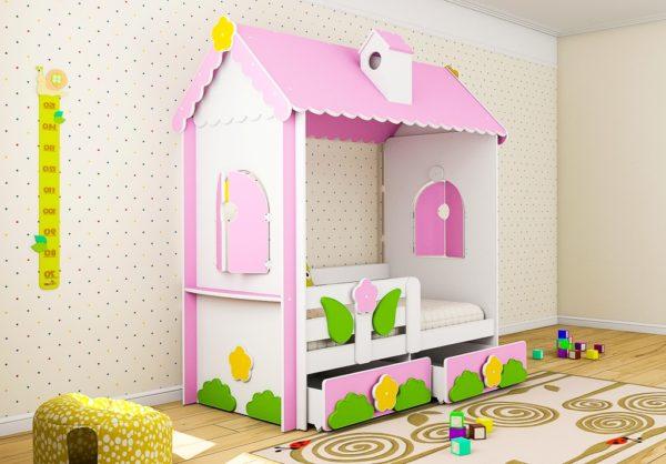 Купить кровать домик ребенку недорого, доставка по РФ, www.krowatki.ru