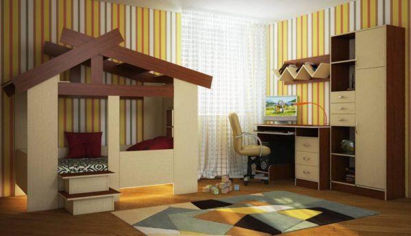 Кровать домик для детей от лет 2