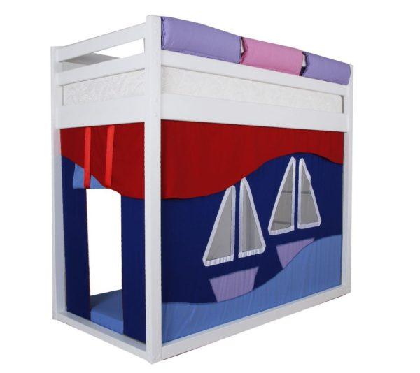 Кровать чердак из дерева для подростка