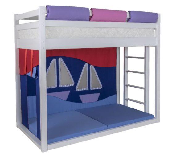 Детская кровать чердак из дерева Мореход!