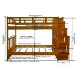 Схема двухъярусной кровати из дерева