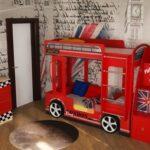 Кровать двухъярусная детская лондон Автобус