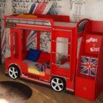Кровать Автобус двухъярусная детская купить