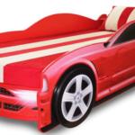 Классная красная кровать машина для двоих детей!