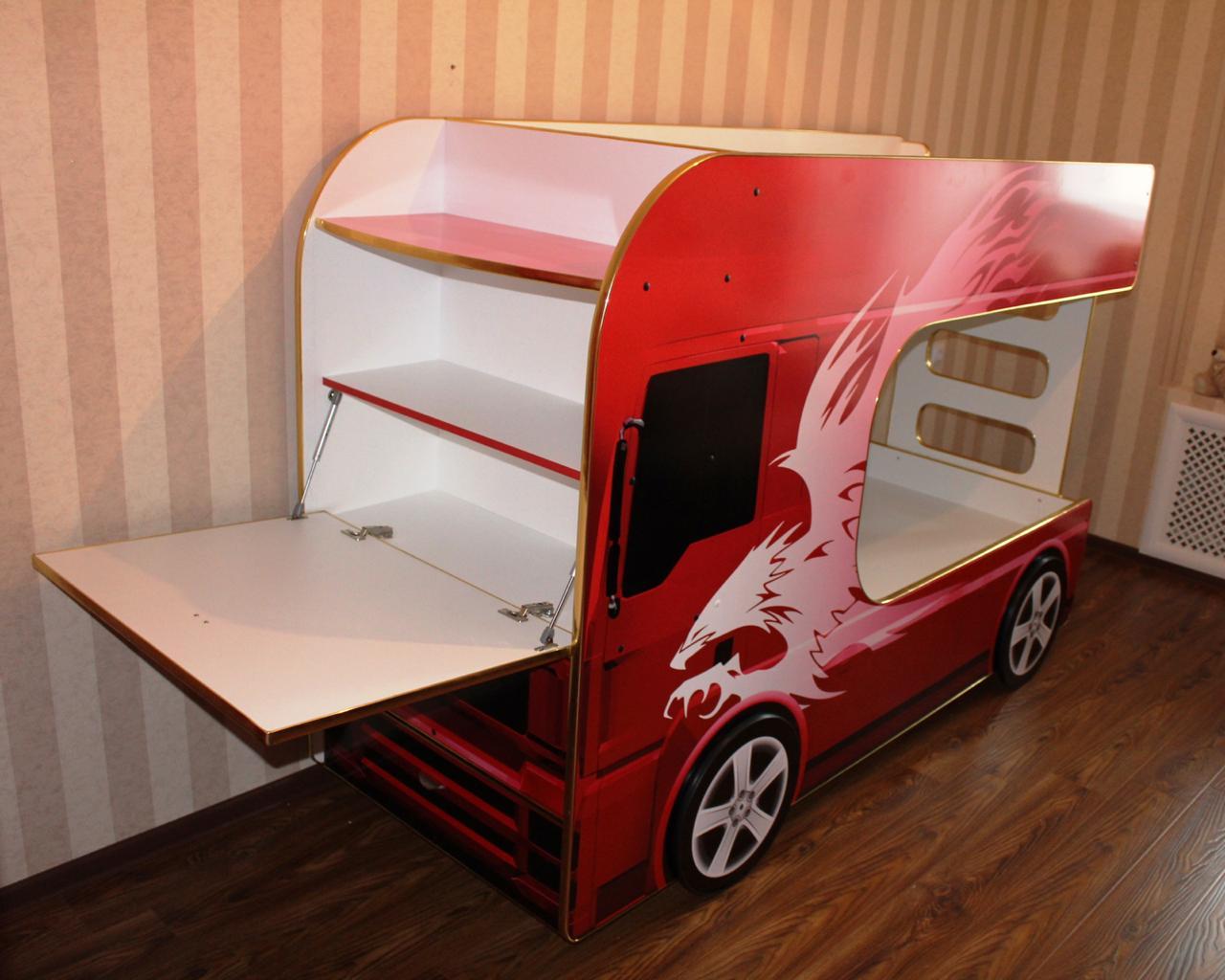 двухъярусная кровать машинка для мальчика