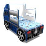 Купить детскую кровать машину грузовик с матрасом