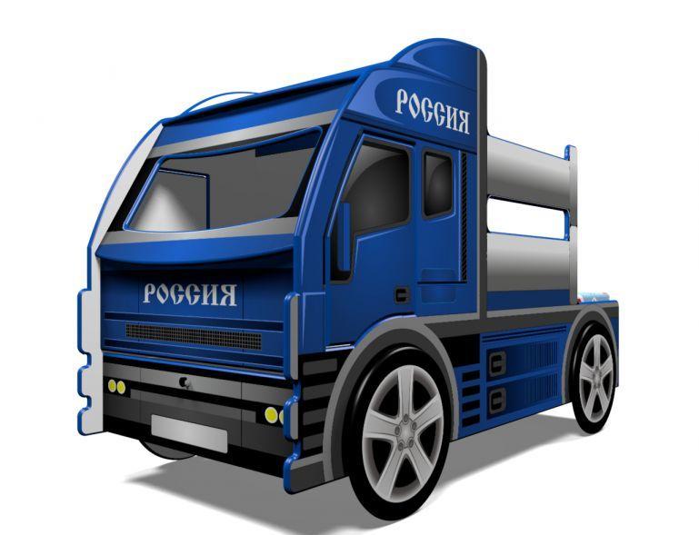 Детская кровать грузовик Россия! Номерной знак в ПОДАРОК!