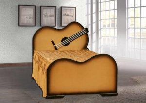 Подростковая кровать в виде гитары!