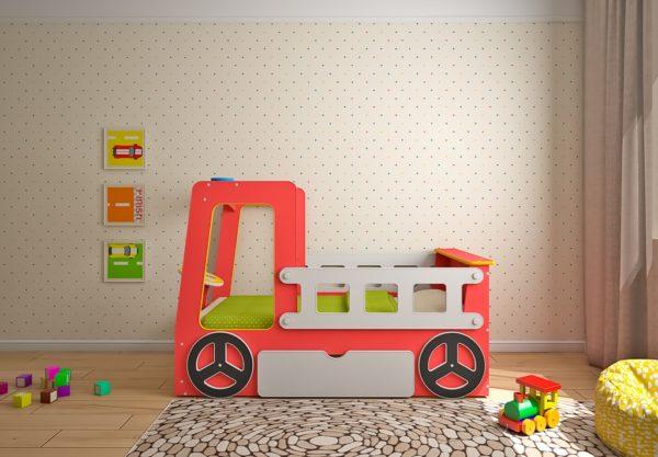 Кровать Пожарная машина. Детские кровати!