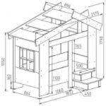 Кровать домик схема