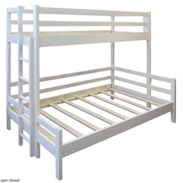 Двухъярусная кровать широкая! Материал: массив сосны! Кликай!