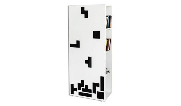 Стеллаж белый в виде Тетриса для детской и подростковой комнаты