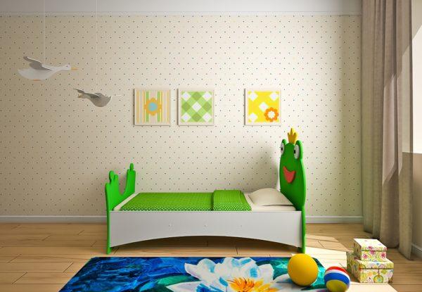 Купить детскую кровать лягушка Царевна