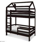 Кровать домик двухъярусная купить