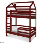Детский двухъярусный кровать Домик