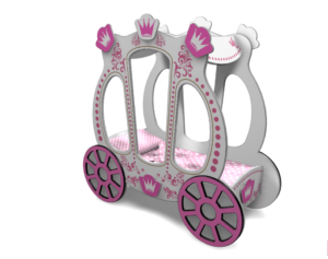 Кровать карета для девочки купить в Москве