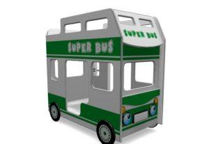 Кровать автобус двухъярусная детская