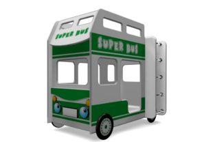 Двухъярусная кровать автобус Супер Бус!