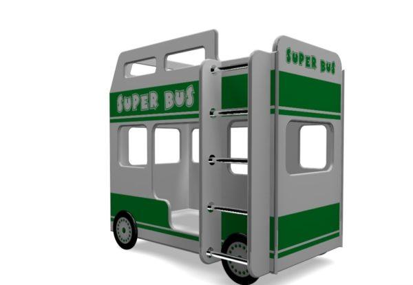 Двухъярусная кровать для детей Автобус