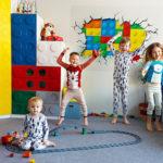 Угловой шкаф в детскую в стиле Лего!