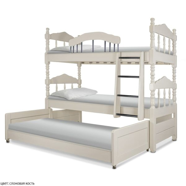 Трёхъярусная кровать из дерева Альбион! Закажи онлайн!