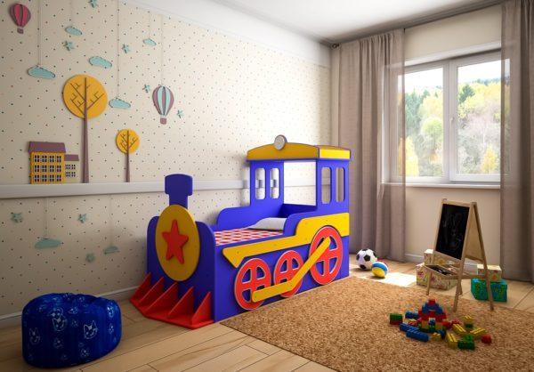Кровать для мальчика в виде паровозика!