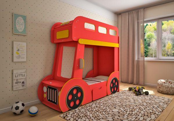 Детская двухъярусная кровать Автобус!