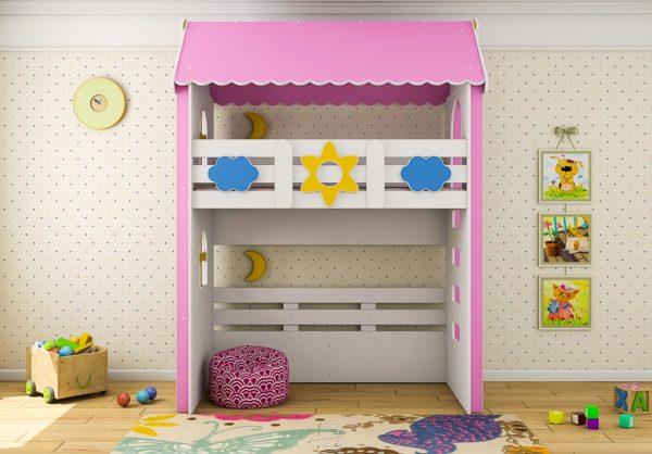 Кровать чердак для детей Ромашка от интернет-магазина www.krowatki.ru