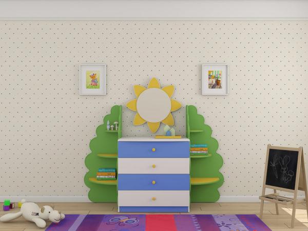 Комод для детских вещей Ромашка Люкс