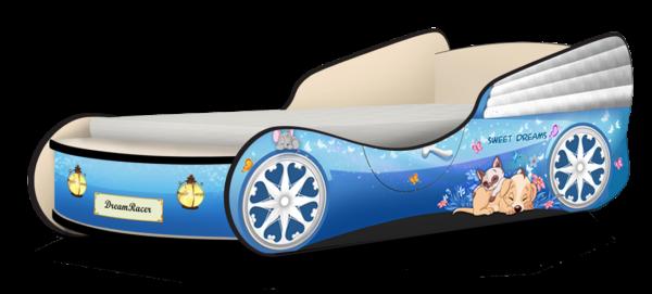 Кровать машинка для девочки купить Мэджик голубой
