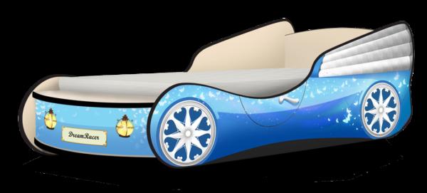 Кровать машинка для девочки купить Бабочки Голубой