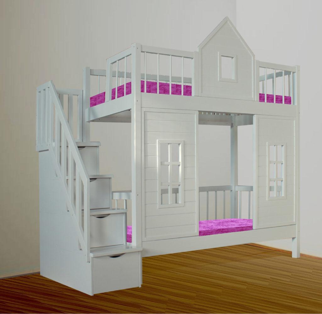Двухъярусная кровать домик дерево в нашем онлайн магазине!