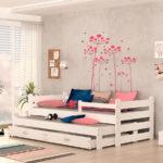 Детские кровати с дополнительным выдвижным местом!