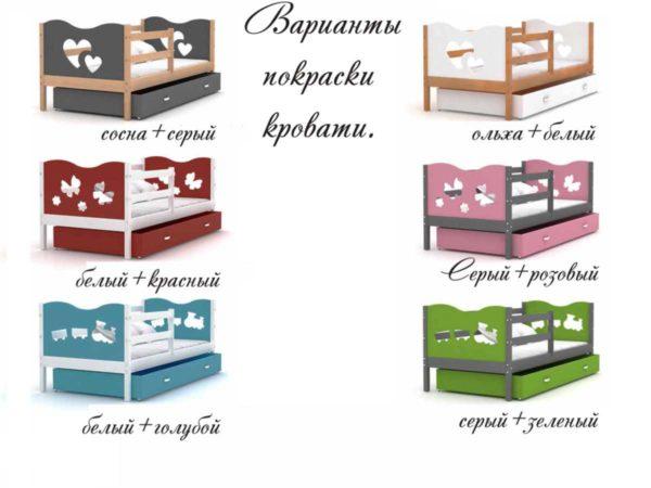 Кровать детская с бортиками и ящиками Москва!